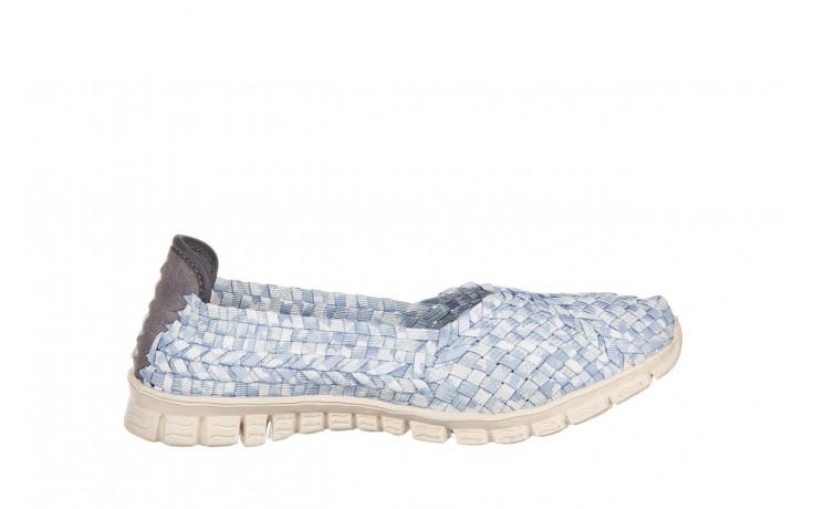 Półbuty rock carioca perena blue smoke 032826, niebieski/ biały, materiał - wsuwane - półbuty - buty damskie - kobieta