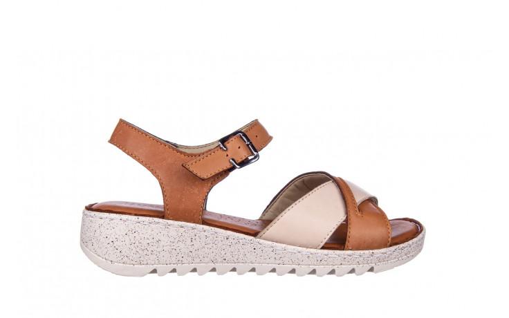 Sandały bayla-161 016 981 beige coconut 161197, brąz/ beż, skóra naturalna  - bayla - nasze marki
