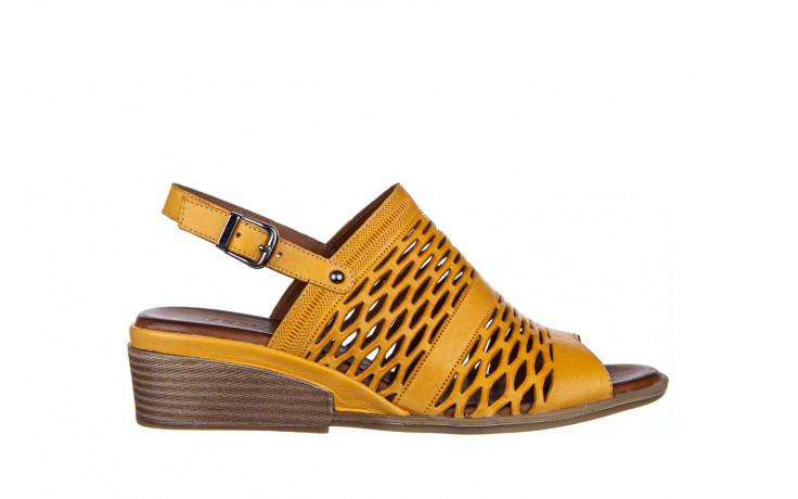 Sandały bayla-161 061 1600 noce 161200, żółty, skóra naturalna  - bayla - nasze marki
