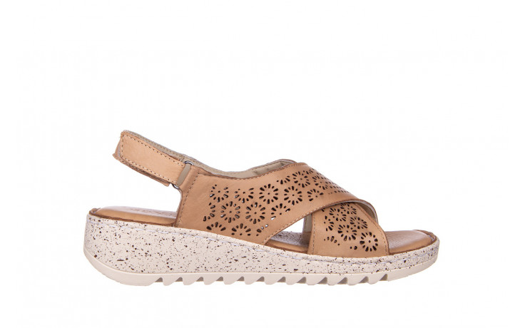 Sandały bayla-161 016 921 cappuccino 161192, brąz, skóra naturalna - sandały - buty damskie - kobieta