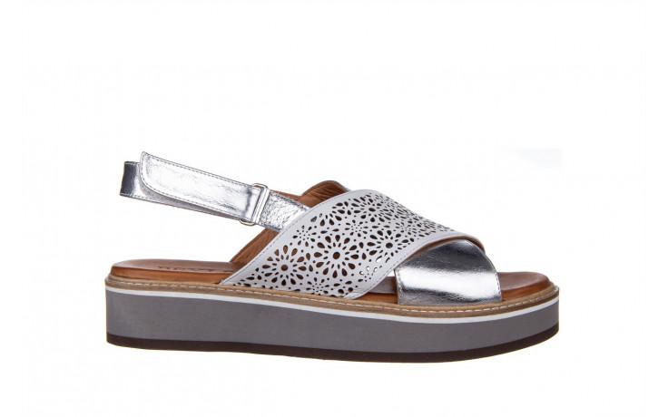 Sandały bayla-161 105 2014 white silver 161213, srebrny/ biały, skóra naturalna  - bayla - nasze marki