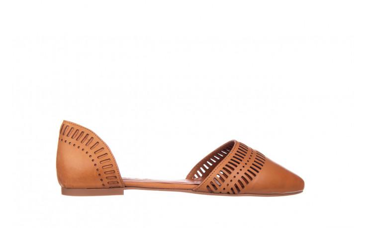 Baleriny bayla-161 138 1102 coconut 161216, brąz, skóra naturalna  - skórzane - baleriny - buty damskie - kobieta