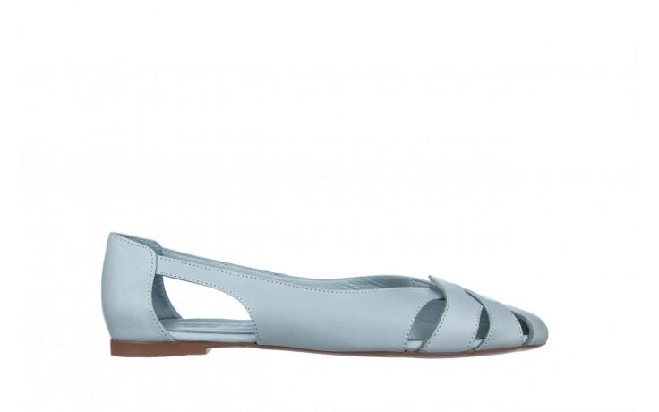 Baleriny bayla-161 138 1560 fresh 161220, niebieski, skóra naturalna - skórzane - baleriny - buty damskie - kobieta