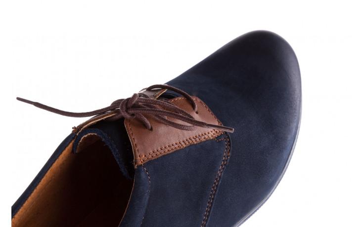 Półbuty bayla-081 777 granat nubuk juma blue ax, skóra naturalna - buty męskie - mężczyzna 4