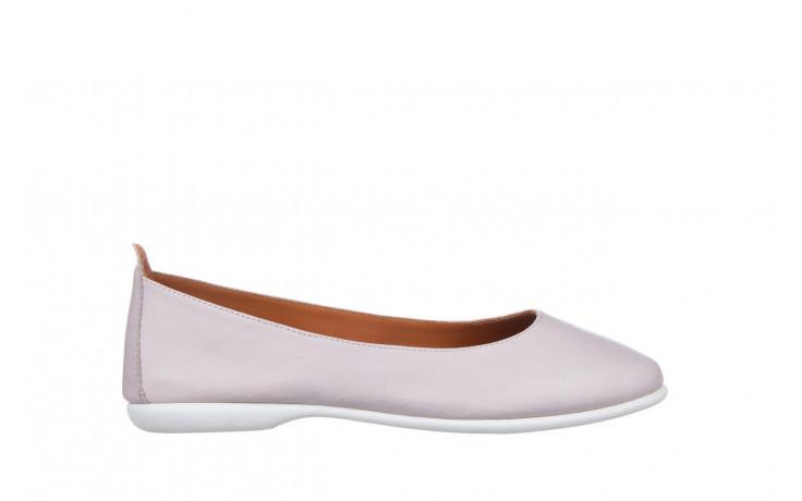 Baleriny bayla-161 059 f007 34 silver grey 161230, beż, skóra naturalna  - skórzane - baleriny - buty damskie - kobieta