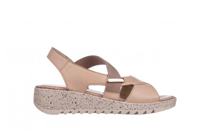 Sandały bayla-161 016 901 beige 161190, beż, skóra naturalna