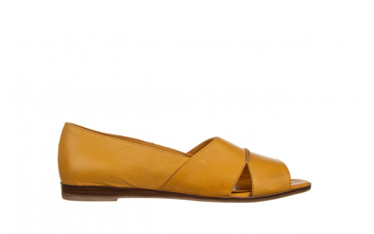 Baleriny bayla-161 138 80123 noce 161225, żółty, skóra naturalna  - skórzane - baleriny - buty damskie - kobieta