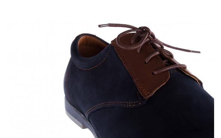 Półbuty bayla-081 777 granat nubuk juma blue ax, skóra naturalna - buty męskie - mężczyzna 5