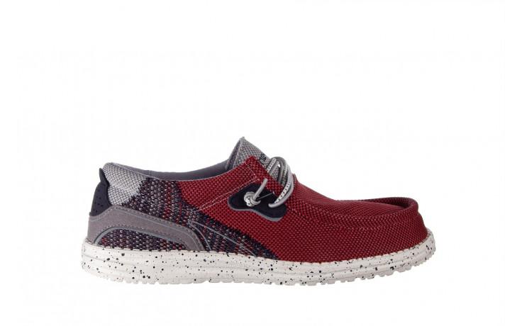 Półbuty heydude wally hawk lava grey 003200, czerwony, materiał - trendy - mężczyzna