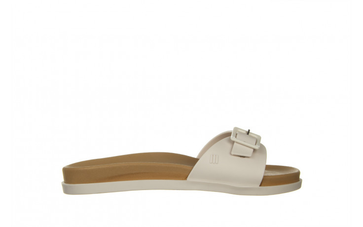 Klapki melissa wide slide ad white beige 010367, biały, guma - nowości