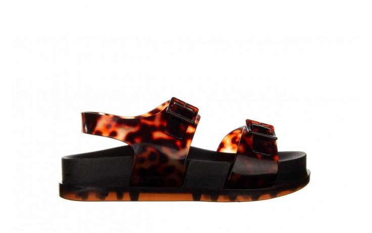 Sandały melissa wide platform ad black turtoise 010362, czarny/ brąz, guma - nowości