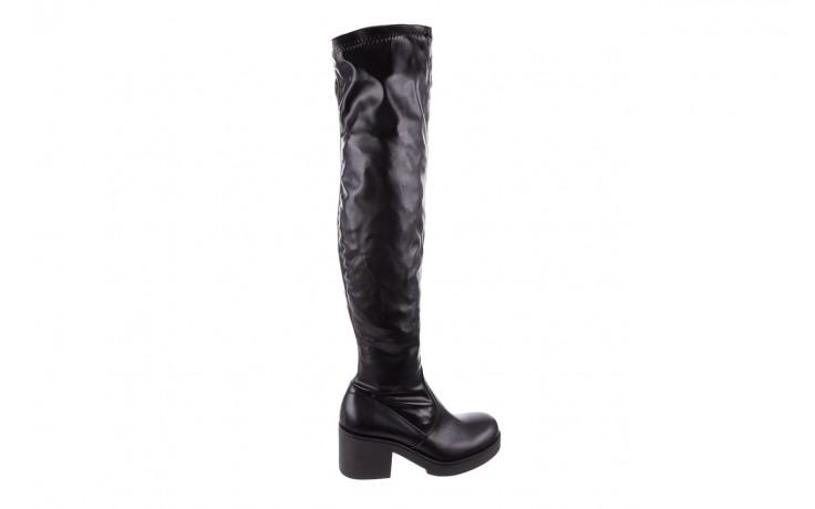 Kozak bayla-056 6016-08 czarny stretch, skóra ekologiczna - na obcasie - kozaki - buty damskie - kobieta
