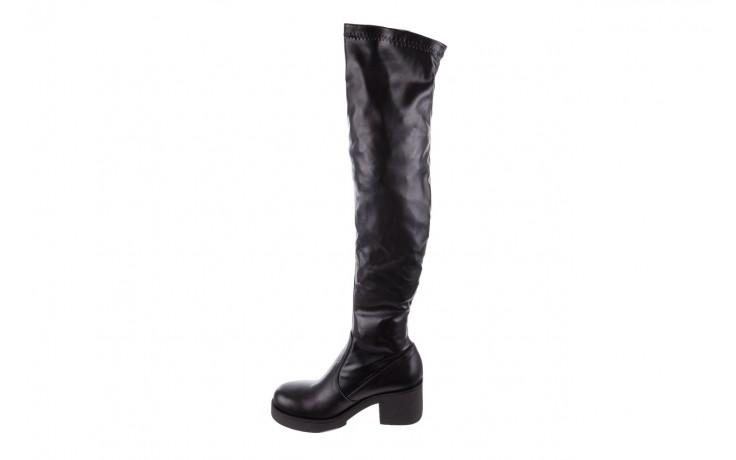 Kozak bayla-056 6016-08 czarny stretch, skóra ekologiczna - na obcasie - kozaki - buty damskie - kobieta 2