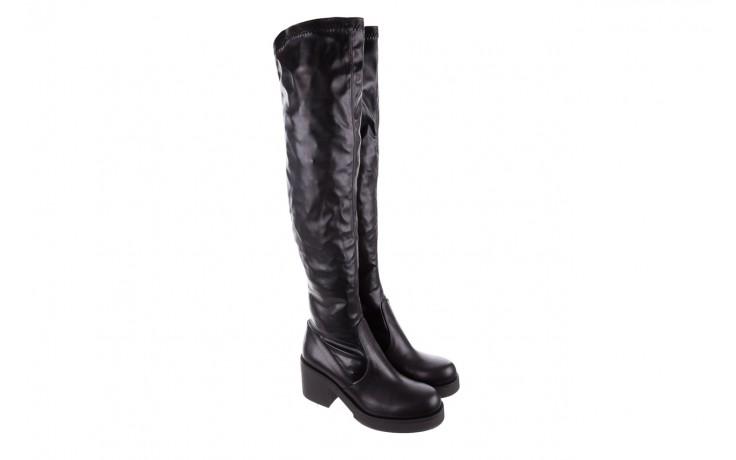 Kozak bayla-056 6016-08 czarny stretch, skóra ekologiczna - na obcasie - kozaki - buty damskie - kobieta 1
