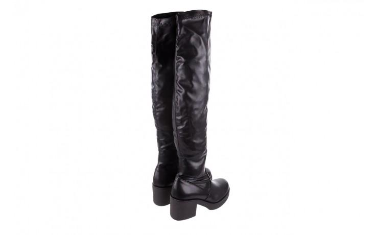 Kozak bayla-056 6016-08 czarny stretch, skóra ekologiczna - na obcasie - kozaki - buty damskie - kobieta 3