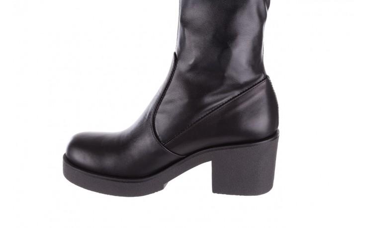 Kozak bayla-056 6016-08 czarny stretch, skóra ekologiczna - na obcasie - kozaki - buty damskie - kobieta 4