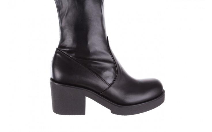 Kozak bayla-056 6016-08 czarny stretch, skóra ekologiczna - na obcasie - kozaki - buty damskie - kobieta 5