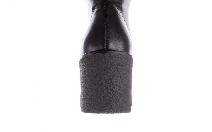Kozak bayla-056 6016-08 czarny stretch, skóra ekologiczna - bayla - nasze marki 6