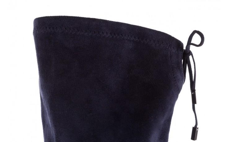 Kozaki bayla-056 9058-1094 granatowy stretch bieżnikowany obcas, skóra ekologiczna - kozaki - buty damskie - kobieta 6