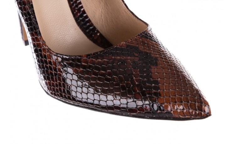 Szpilki bayla-097 14 brązowy wąż, skóra naturalna - bayla - nasze marki 6