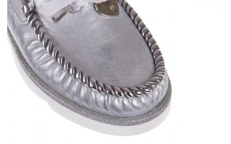 Mokasyny bayla-099 00750 srebro vs14, skóra naturalna  - bayla - nasze marki 5