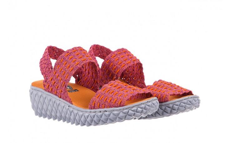 Sandały rock roxana andromeda, róż, materiał  - rock - nasze marki 1