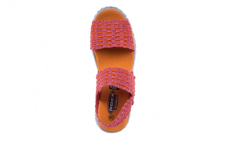 Sandały rock roxana andromeda, róż, materiał  - rock - nasze marki 5