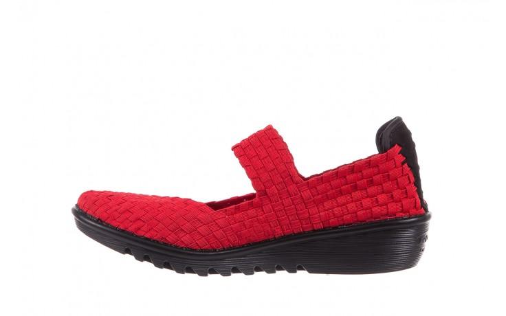 Półbuty rock brixton red, czerwony, materiał  - rock - nasze marki 2