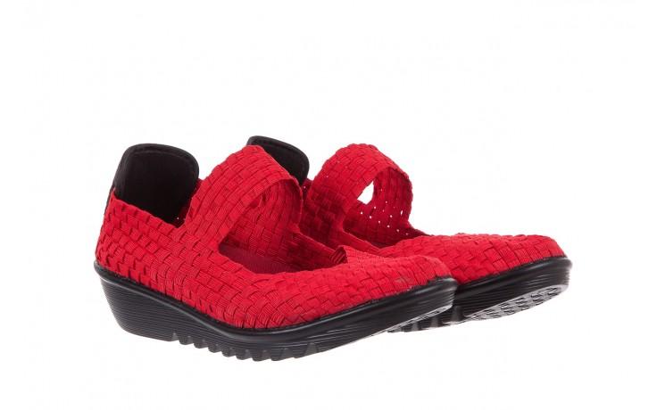 Półbuty rock brixton red, czerwony, materiał  - rock - nasze marki 1