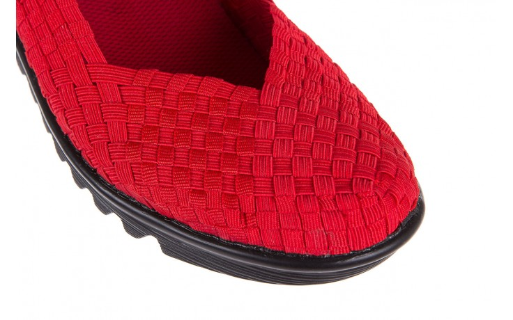 Półbuty rock brixton red, czerwony, materiał  - rock - nasze marki 5