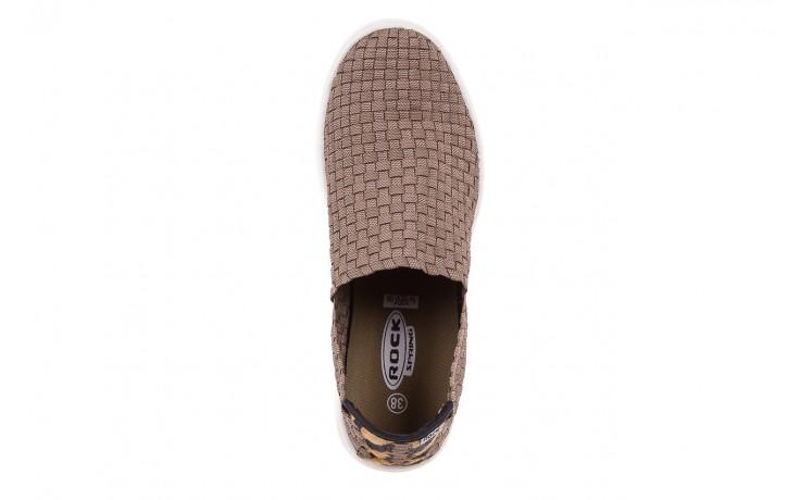 Trampki rock cruiser s ratan, brąz, materiał  - obuwie sportowe - dla niej - dodatkowe -10% 4