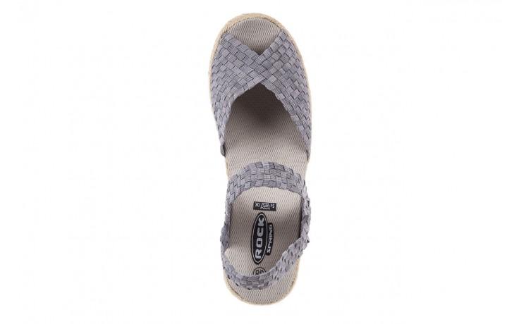 Sandały rock maracuja grey, szary, materiał - rock - nasze marki 5