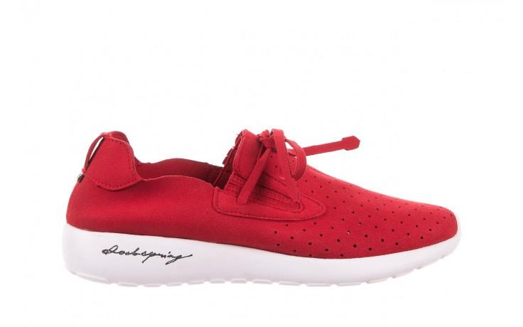 Półbuty rock mistrale red, czerwony, materiał  - obuwie sportowe - buty damskie - kobieta