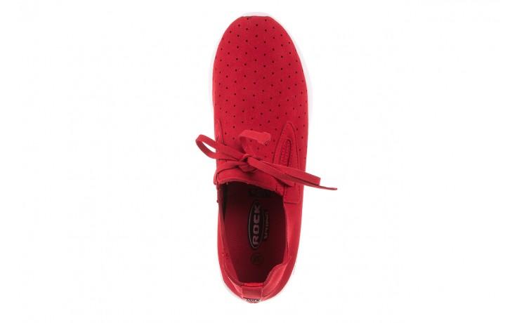 Półbuty rock mistrale red, czerwony, materiał  - obuwie sportowe - buty damskie - kobieta 5