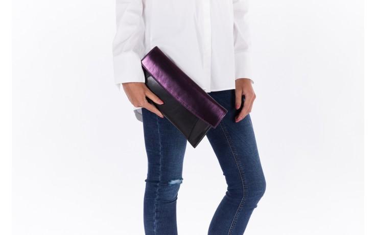 Torebka bayla-097 torebka koperta sandra czarno-fioletowa, skóra naturalna  - torebki - akcesoria - kobieta 2