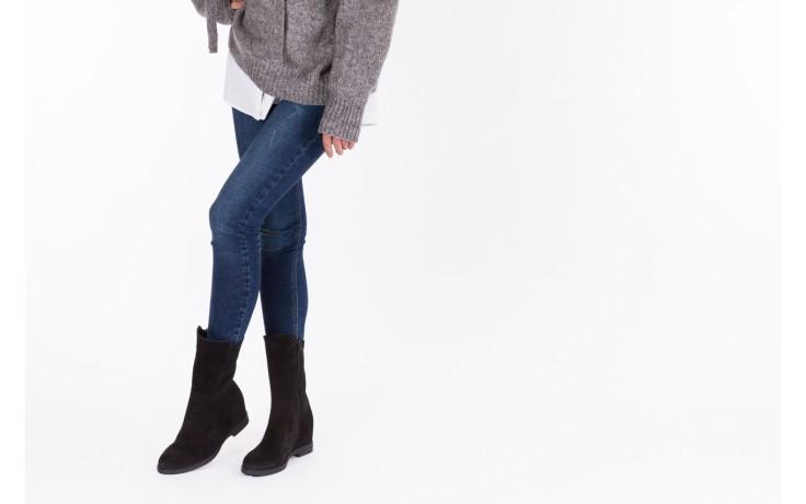 Botki bayla-174 mi3145 czarny zamsz, skóra naturalna  - zamszowe - botki - buty damskie - kobieta 2