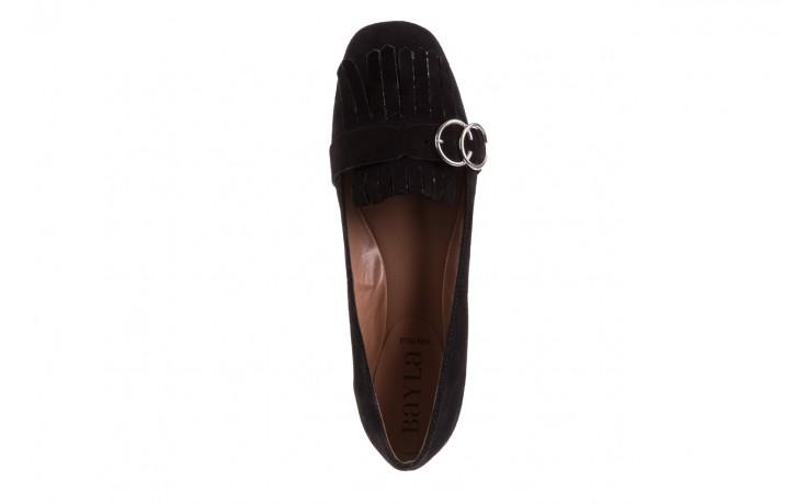 Lordsy bayla-174 mi3702 czarny, skóra naturalna  - mokasyny i lordsy - półbuty - buty damskie - kobieta 5
