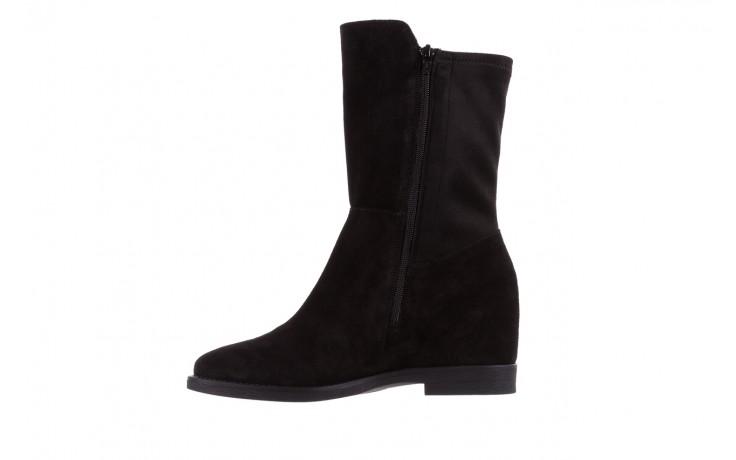 Botki bayla-174 mi3145 czarny zamsz, skóra naturalna  - zamszowe - botki - buty damskie - kobieta 3