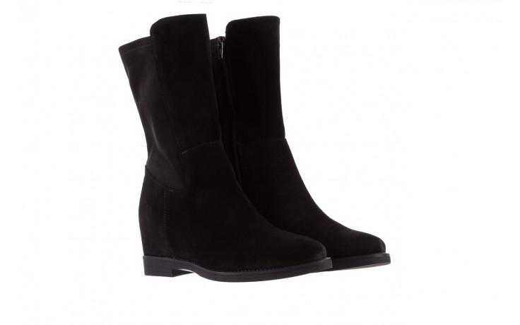 Botki bayla-174 mi3145 czarny zamsz, skóra naturalna  - zamszowe - botki - buty damskie - kobieta 1