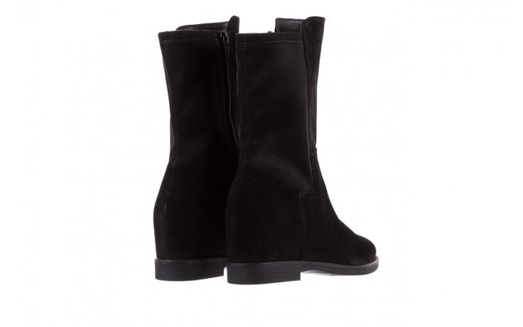Botki bayla-174 mi3145 czarny zamsz, skóra naturalna  - zamszowe - botki - buty damskie - kobieta 4