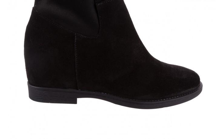 Botki bayla-174 mi3145 czarny zamsz, skóra naturalna  - zamszowe - botki - buty damskie - kobieta 6