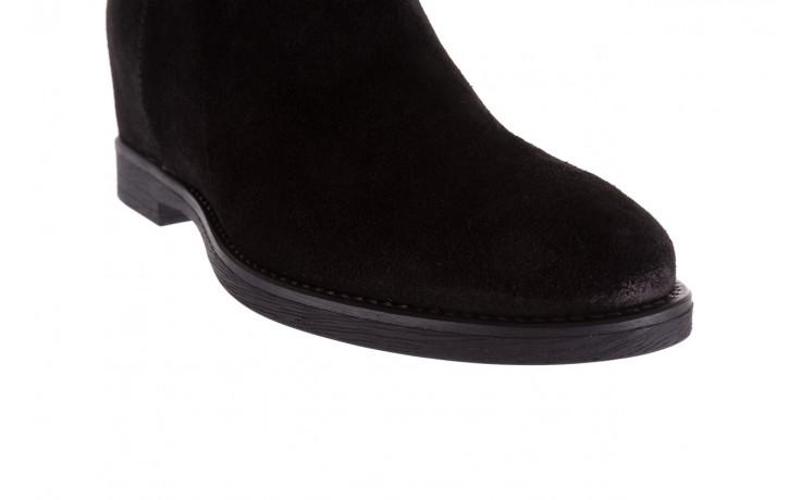 Botki bayla-174 mi3145 czarny zamsz, skóra naturalna  - zamszowe - botki - buty damskie - kobieta 5