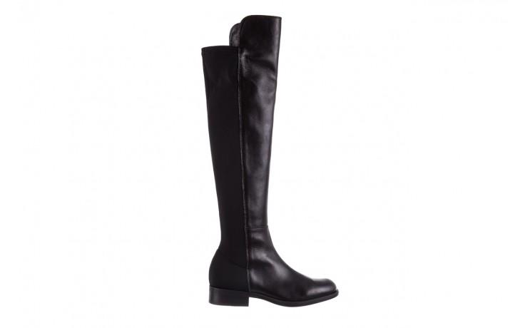 Kozaki bayla-174 mh0490 czarne lico, skóra naturalna - płaskie - kozaki - buty damskie - kobieta