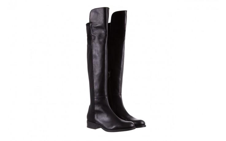 Kozaki bayla-174 mh0490 czarne lico, skóra naturalna - płaskie - kozaki - buty damskie - kobieta 1