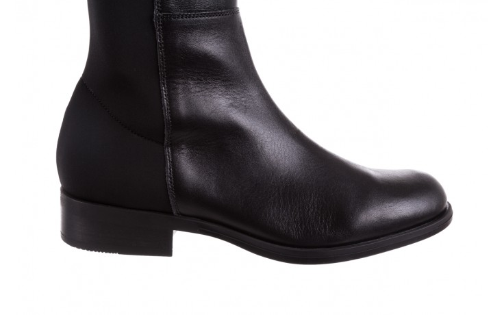 Kozaki bayla-174 mh0490 czarne lico, skóra naturalna - płaskie - kozaki - buty damskie - kobieta 7
