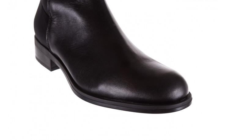 Kozaki bayla-174 mh0490 czarne lico, skóra naturalna - płaskie - kozaki - buty damskie - kobieta 5
