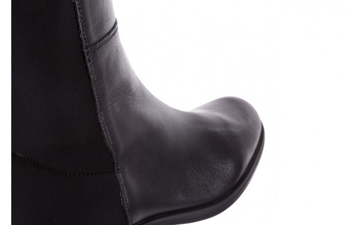 Kozaki bayla-174 mh0490 czarne lico, skóra naturalna - płaskie - kozaki - buty damskie - kobieta 6