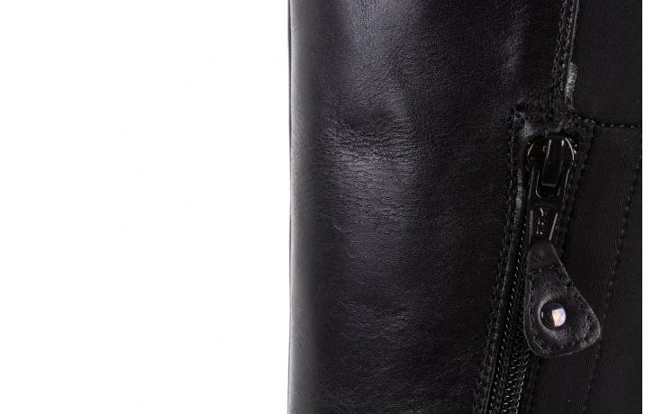 Kozaki bayla-174 mh0490 czarne lico, skóra naturalna - płaskie - kozaki - buty damskie - kobieta 9