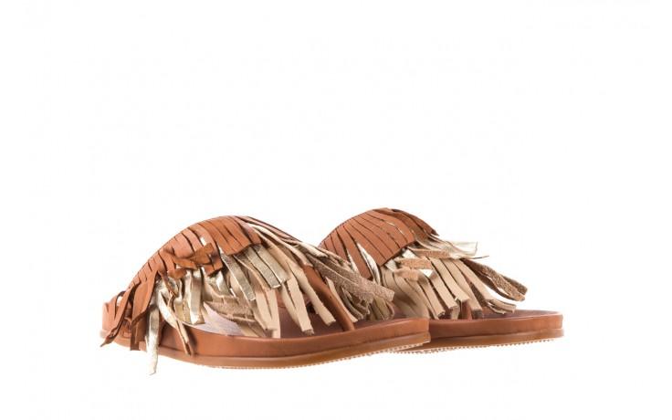 Klapki bayla-163 17-192 nr 1 coconut combi, brąz, skóra naturalna  - japonki - klapki - buty damskie - kobieta 1