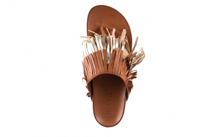 Klapki bayla-163 17-192 nr 1 coconut combi, brąz, skóra naturalna  - japonki - klapki - buty damskie - kobieta 4